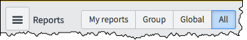 A screenshot showing the location of the All Reports button at the top of the reports screen
