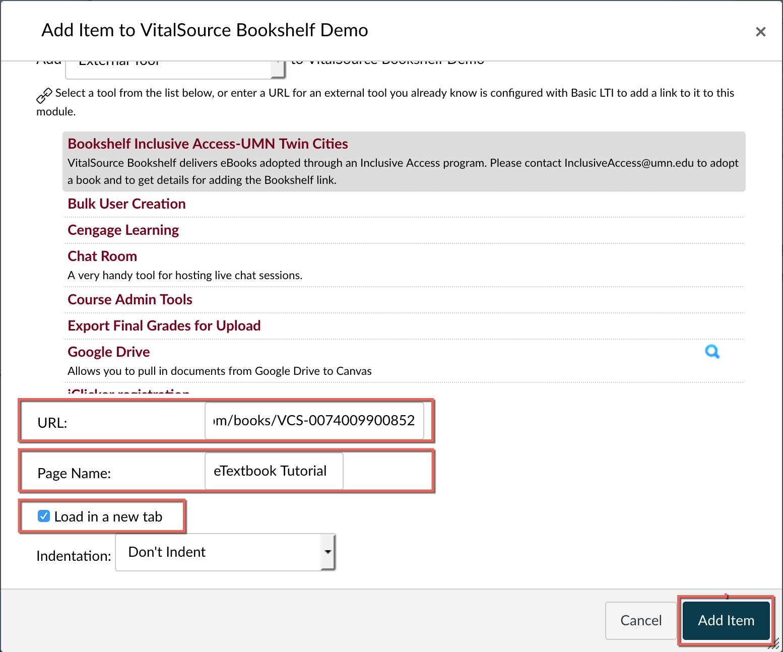 Modify URL, Page Name, and Load new tab options