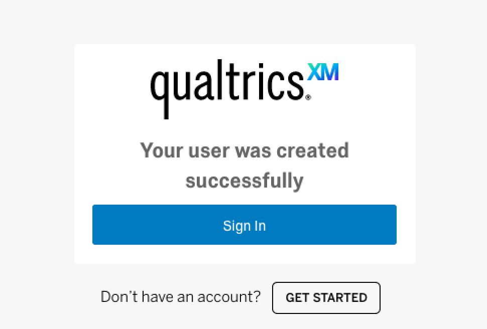 qualtrics user created