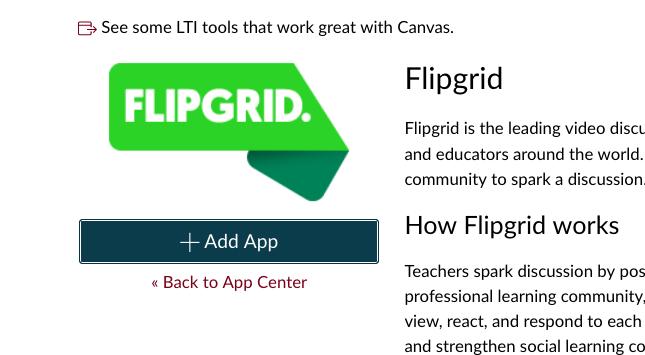 flip grid add app