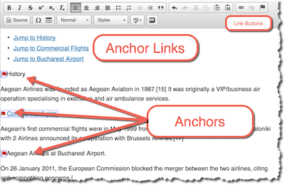 anchors in the editing window