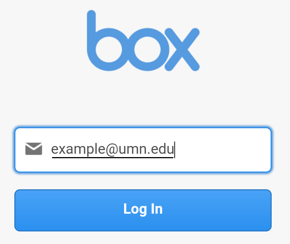 The email section of box after choosing Single Sign On SSO with an example umn.edu email in the box