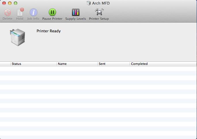 Mac Printer Settings