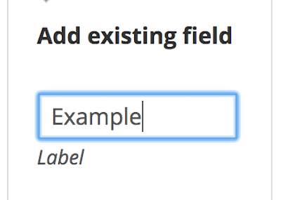 Field for a label for an existing contributor field