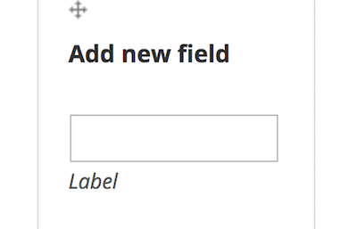 Label field for a new contributor field after Add new field title