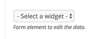 Widget dropdown for a new contributor field