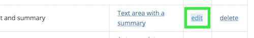 Edit link of a contributor field between widget link and delete link
