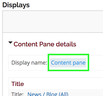 Content pane link for the Display name field