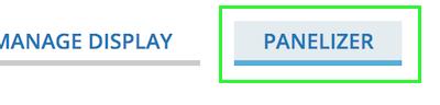 Panelizer tab after the Mange Display tab