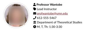 example screenshot of a teacher & TA block