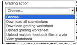 grading action menu with option to download all submissions