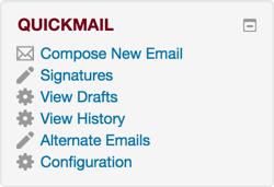 Quickmail block.