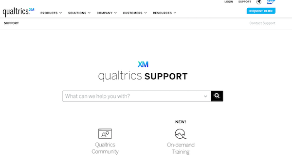 search qualtrics documentation