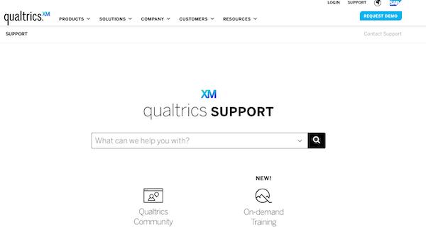 search qualtrics documentation text box