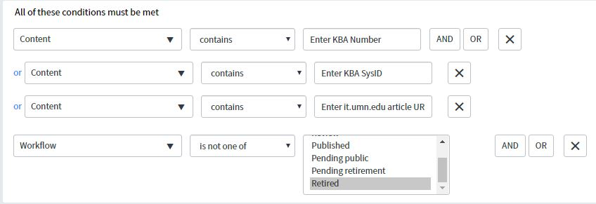 ServiceNow Report to filter for links to a specific KB article