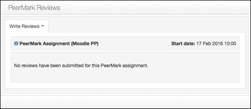 PeerMark Reviews window.