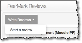Write Reviews tab open with Start a review option displayed.