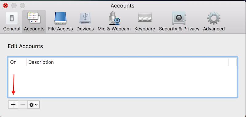 citrix preferences add account