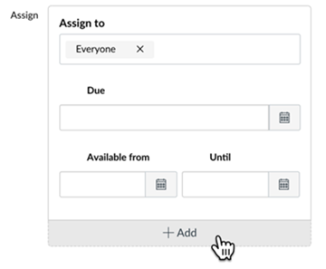 Assign pane +Add button highlighted
