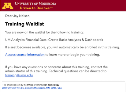 the default added to waitlist email confirmation