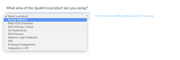 select survey platform from the list