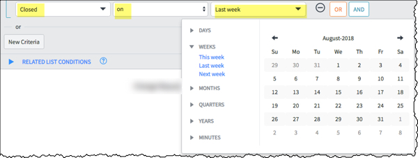 Kingston Date change filter with calendar drop down options