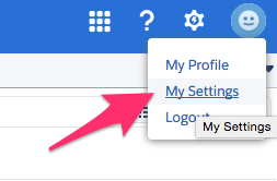 The location of My Settings in the dropdown