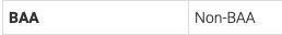 screenshot showing Non-BAA for the BAA status in my-account.umn.edu