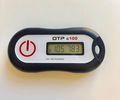 An OTP (one-time password) token