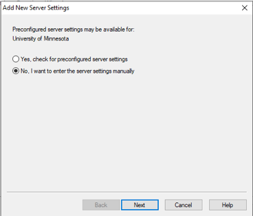 Configure my server settings.