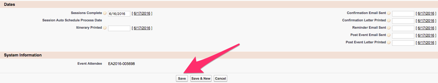 The location of the Save button under the Message confirmation options