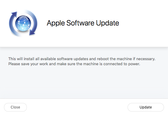 self service software update object info page