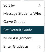 Set Default Grade option
