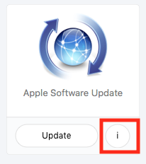 self service software update object info button