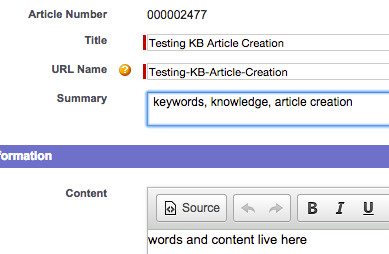 The Summary Field in Article Edit