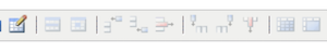 the table tools of the wysiwyg toolbar
