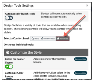 arrow pointing to the advanced setting button