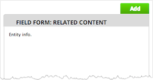 Add content dialog window. Screenshot of sample content. The Add button is highlighted.