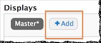 Screenshot of the +Add button.