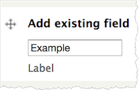 Manage Fields tab. The Label fields is highlighted.