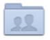 The blue Collaborated Folder icon