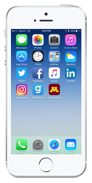 Image of phone with apps