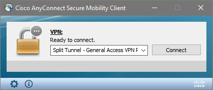 anyconnect login split tunnel