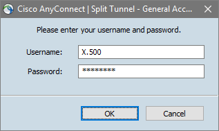 anyconnect login screen