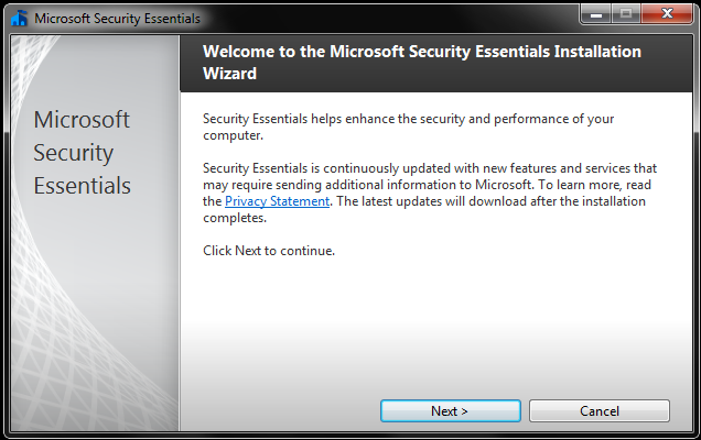 Welcome to MSE Installation Wizard