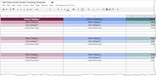 Three-column spreadsheet