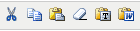the text editing tools on the wysiwyg toolbar