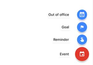 Calendar options. Event highlighted.